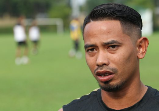 PETALING JAYA 06 December 2014. Natioanl footballer, Safiq Rahim at the national football team training for the AFF Suzuki Cup 2014 semi final match held at Wisma FAM. NSTP/Goh Thean Howe