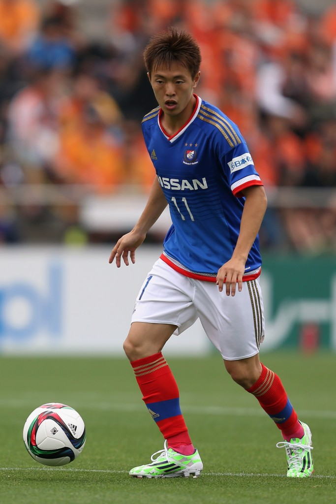 Manabu Saito during the J.League match between Shimizu S-Pulse and Yokohama F.Marinos at IAI Stadium Nihondaira on May 16, 2015 in Shizuoka, Japan.