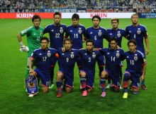 XXX of XXX [action] during the 2018 FIFA World Cup Qualifier Round 2 - Group E match between Japan and Cambodia at Saitama Stadium on September 3, 2015 in Saitama, Japan.