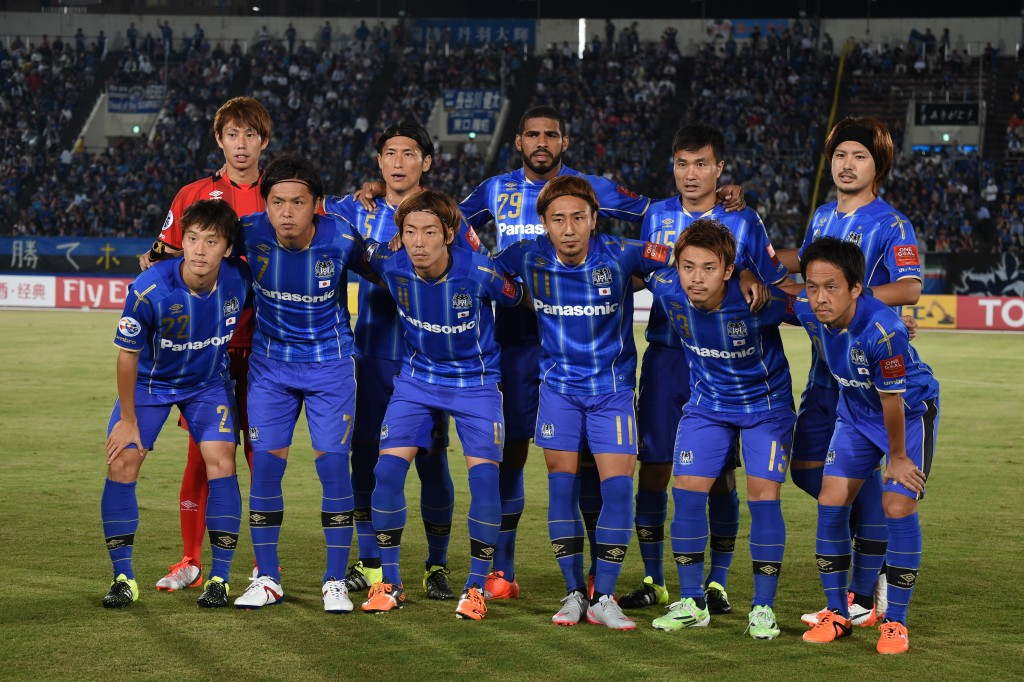 OSAKA, JAPAN - SEPTEMBER 16:  Team photo of Gamba Osaka during the AFC Champions League quarter final match between Gamba Osaka and Jeonbuk Hyundai Motors ]at Expo '70 Stadium on September 16, 2015 in Osaka, Japan.  (Photo by Kaz Photography/Getty Images)