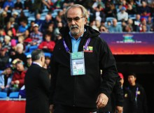 WHANGAREI, NEW ZEALAND - MAY 30:  Head coach Gerd Zeise of Myanmar ahead of the FIFA U-20 World Cup Group A match between USA and Myanmar at the Northland Events Centre on May 30, 2015 in Whangarei, New Zealand.  (Photo by Hannah Peters - FIFA/FIFA via Getty Images)