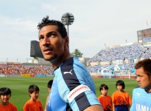 SAITAMA, JAPAN - MAY 17:  (EDITORIAL USE ONLY) Jay Bothroyd of Jubilo Iwata is seen prior to the J.League second division match between Omiya Ardija and Jubilo Iwata at Nack 5 Stadium Omiya on May 17, 2015 in Saitama, Japan.  (Photo by Hiroki Watanabe/Getty Images)